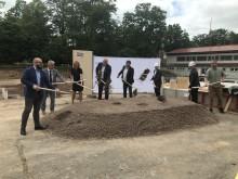 Spatenstich: Erweiterung der Thüringer Gemeinschaftsschule 6 in Holz-Hybrid-Bauweise MOLENO
