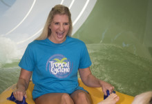 Gold medallist Rebecca Adlington OBE opens new water ride at Center Parcs Sherwood Forest