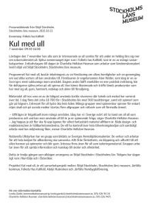 Kul med ull i Folkets Hus Kallhäll