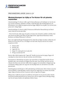 Pressmeddelande - Mustaschkampen tar hjälp av Tre Kronor