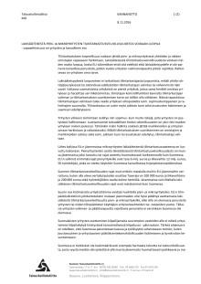 TAL Lausunto: Lakisääteisestä pian- ja mikroyrityksen tilintarkastusvelvollisuudesta voidaan luopua