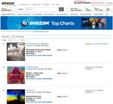 Shazam Charts Launch on Amazon MP3