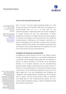 Zurich tritt InsurLab Germany bei