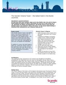 PR Fact Sheet Scandic Victoria Tower
