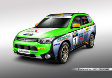 Outlander Plug-in Hybrid kör Asia Cross Country Rally