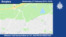 Appeal for witnesses following aggravated burglary in Wray Lane, Reigate