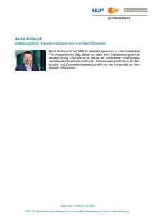 Kurzvita Bernd Roßkopf