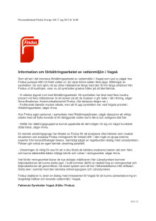 Information om förbättringsarbetet av vattenmiljön i Vegeå