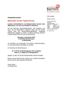 Einladung PK Motoradkonferenz