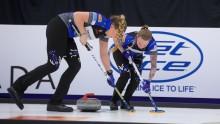 Både lag Hasselborg och lag Edin är klara för slutspel i helgens stora Grand Slam-tävling i Toronto, Kanada