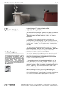Offecct Press release Osaka by Teruhiro Yanagihara_EN
