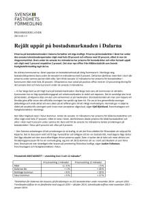 Rejält uppåt på bostadsmarknaden i Dalarna