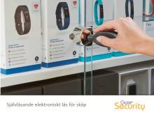 Självlåsande elektroniskt lås för skåp
