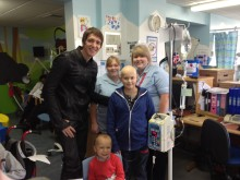 Harry Potter star makes flying visit to Birmingham Children's Hospital
