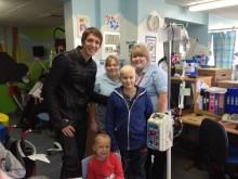 Harry Potter star makes flying visit to Birmingham Children's Hospital