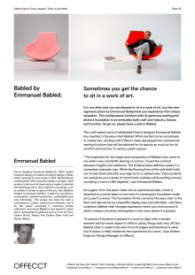 Offecct Press release Babled by Emmanuel Babled_EN