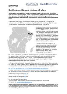 Värdebarometern 2017 Uppsala län