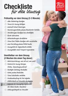 Checkliste für den Umzug
