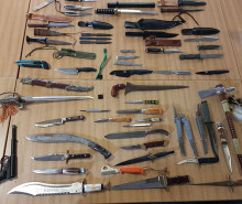 Knives and firearms discovered as part of Op Target