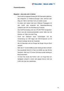 Tallink Silja Megastar | 1 Jahr in Zahlen
