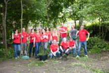 Kräutergarten statt Girokonto: Santander Mitarbeiter packen mit an