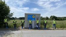 Tiefbauarbeiten im geförderten Ausbaugebiet in Wettringen gestartet