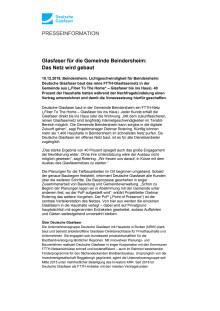 Glasfaser für die Gemeinde Beindersheim: Das Netz wird gebaut