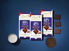 Mer kakao. Mindre socker. Upptäck nya Lindt Excellence Mjölkchoklad med högre kakaohalt.