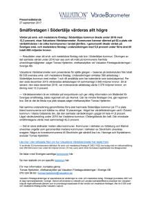 Värdebarometern 2017 Södertäljes kommun