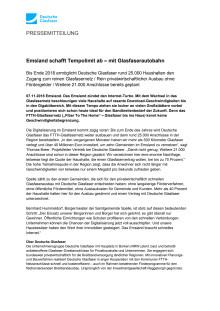 Emsland schafft Tempolimit ab – mit Glasfaserautobahn