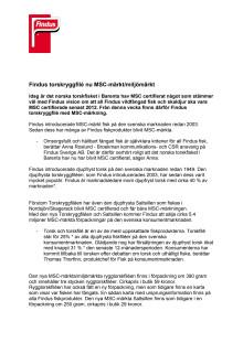 Findus torskryggfilé nu MSC-märkt/miljömärkt