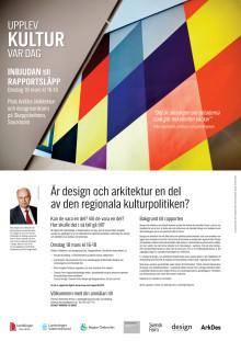 """INBJUDAN: Rapportsläpp 18 mars """"Upplev kultur var dag"""""""
