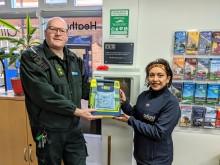 LIFE SAVING DEFIBRILLATOR INSTALLED AT OXFORD BUS COMPANY'S TRAVEL SHOP