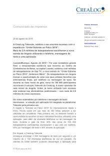 """A CreaLog Televote, celebra o seu enorme sucesso com o espetáculo """"Unitel Estrelas ao Palco 2018"""""""