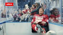 Adlibriksen uusi TV-mainoskonsepti vie jääkiekkoilijat kirjojen pariin!