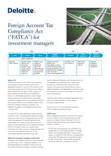FATCA for Investment Managers