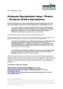 Evidensia Djursjukvård växer i Örebro  - förvärvar Örebro Djursjukhus