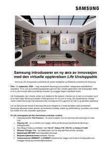 Samsung introduserer en ny æra av innovasjon med den virtuelle opplevelsen Life Unstoppable