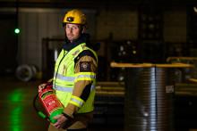 Släckare för litiumjonbatterier stoppade brand i truckbatteri