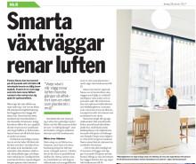 Naava i Dagens ETC om hur de bidrar till en bättre inomhusluft