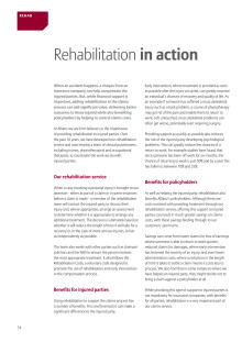 Property & Casualty Newsletter - Rehabilitation in Action Part 6