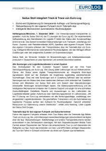 Sedus Stoll integriert Track & Trace von Euro-Log