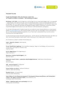 Projekt Nachhaltigkeit 2019: Die Gewinner stehen fest 10 Projekte aus Bayern und Baden – Württemberg sind dabei!