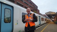 Lifelong rail enthusiast recognised for long service after 40 years in rail industry