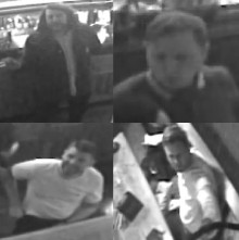 Images released of four sought in connection with racially-aggravated assault