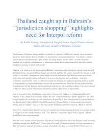 "Thailand caught up in Bahrain's ""jurisdiction shopping"" highlights need for Interpol  reform - Radha Stirling op-ed"