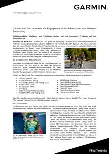 PM Garmin Pro Cycling und Pro Athletes Sponsoring 2021
