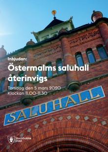 Återinvigning av Östermalms Saluhall torsdag 5 mars