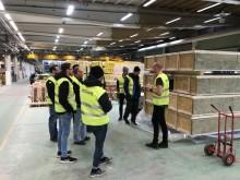 Trevligt fabriksbesök av Rekab Umeå på Lättelement