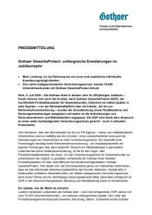 Gothaer GewerbeProtect: umfangreiche Erweiterungen im Jubiläumsjahr
